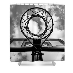 Sky Hoop Basketball Time Shower Curtain