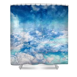 Sky Moods - A View From Above Shower Curtain by Glenn McCarthy