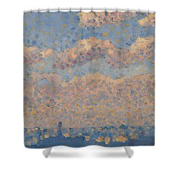 Sky Over The City Shower Curtain by Louis Hayet