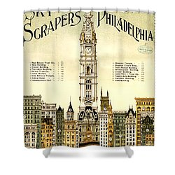 Sky Scrapers Of Philadelphia 1896 Shower Curtain by Bill Cannon