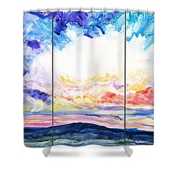Sky Sonata Shower Curtain