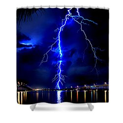 Sky Streaking Shower Curtain by Doug Heslep