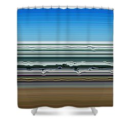 Sky Water Earth Shower Curtain by Michelle Calkins