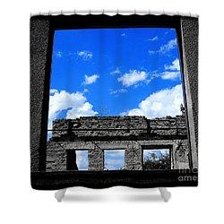 Shower Curtain featuring the photograph Sky Windows by Nina Ficur Feenan