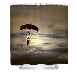Evening Skydiver Shower Curtain by Dyle   Warren