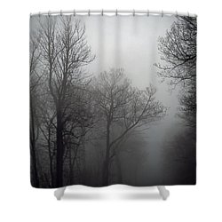 Skyline Drive In Fog Shower Curtain
