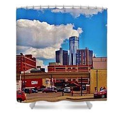 Skyline From The Inside... Detroit Shower Curtain