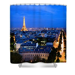 Skyline Of Paris Shower Curtain