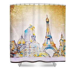 Skyline Of The World Shower Curtain by Natasha Marco