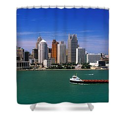 Skylines At The Waterfront, River Shower Curtain