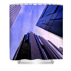 Skyscraper Angles Shower Curtain by Matt Harang