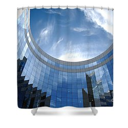 Skyscraper Shower Curtain by Michal Bednarek