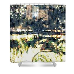 Skyscraper Reflection Painting Shower Curtain by PainterArtist FIN