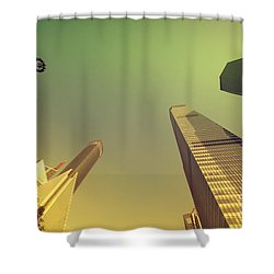 Shower Curtain featuring the photograph Skyscraper by Yew Kwang