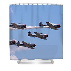 Skytypers Shower Curtain by Karen Silvestri