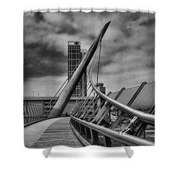 Skywalk Shower Curtain by Hugh Smith