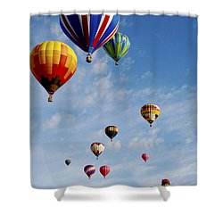 Shower Curtain featuring the photograph Skyward Bound by Gina Savage