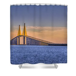 Skyway Bridge Shower Curtain by Marvin Spates