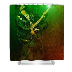 Slashed Shower Curtain by WB Johnston