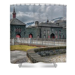 Slate Museum Shower Curtain by Adrian Evans