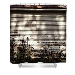 Slats And Shadows Shower Curtain