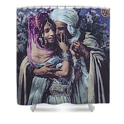 Slave To Love Shower Curtain by Alphonse Etienne Dinet