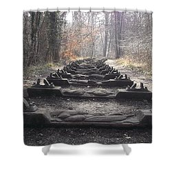 Sleepers In The Woods Shower Curtain by John Williams