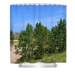 Sleeping Bear Dunes National Lakeshore Shower Curtain by Michelle Calkins