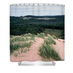 Sleeping Bear Dunes Shower Curtain by Randy Pollard