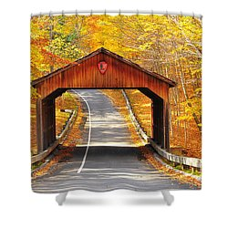 Sleeping Bear National Lakeshore Covered Bridge Shower Curtain