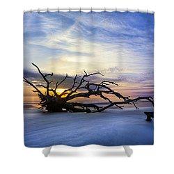 Sleeping Giant Shower Curtain by Debra and Dave Vanderlaan