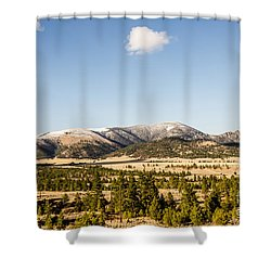Sleeping Giant Shower Curtain by Sue Smith