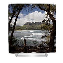 Sleeping Giant Shower Curtain by Suzanne Luft