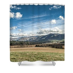 Shower Curtain featuring the photograph Sleeping Giants In Cades Cove by Debbie Green