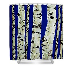 Sleeping Giants Shower Curtain by Jackie Carpenter