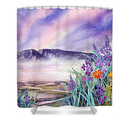 Sleeping Lady Sunset Shower Curtain