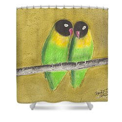 Sleeping Love Birds Shower Curtain