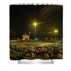 Sleeping Subways Shower Curtain