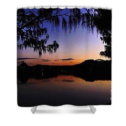 Sleeping Sun Shower Curtain by Kaye Menner