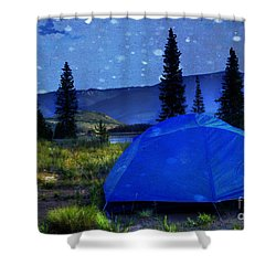 Sleeping Under The Stars Shower Curtain