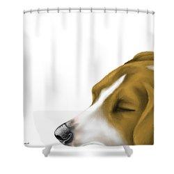 Sleeping Shower Curtain by Veronica Minozzi
