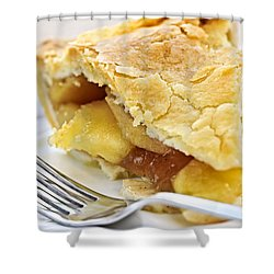 Slice Of Apple Pie Shower Curtain by Elena Elisseeva