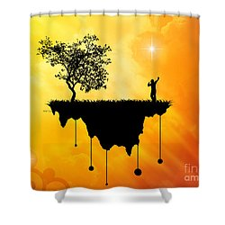 Shower Curtain featuring the digital art Slice Of Earth by Phil Perkins