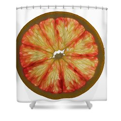 Slice Of Grapefruit, Backlit Shower Curtain