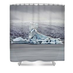 Slice Of Ice Shower Curtain by Evelina Kremsdorf