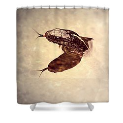 Shower Curtain featuring the photograph Slithering Reflections by Melanie Lankford Photography