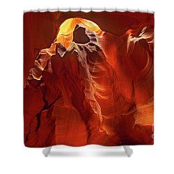 Shower Curtain featuring the photograph Slot Canyon Formations In Upper Antelope Canyon Arizona by Dave Welling