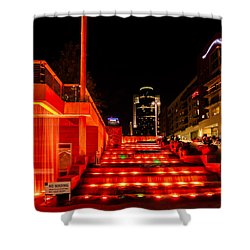 Smale Park At Night Shower Curtain by Keith Allen