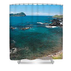 Small Bay And Islet Shower Curtain by Gaspar Avila