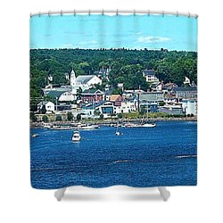 Small Coastal Town America Shower Curtain